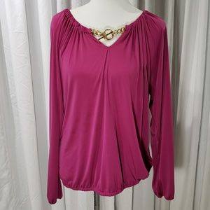 NWOT Michael Kors Gold Chain Blouse